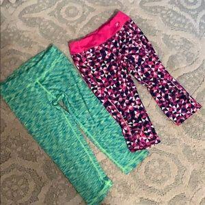 Bundle of athletic yoga pants capris